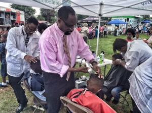 Barber Community service.
